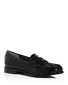 Marc Fisher LTD. - Women's Halli Croc-Embossed Moc-Toe Penny Loafers