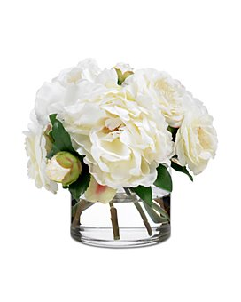 Diane James Home - Camellia & Peony Faux Floral Bouquet