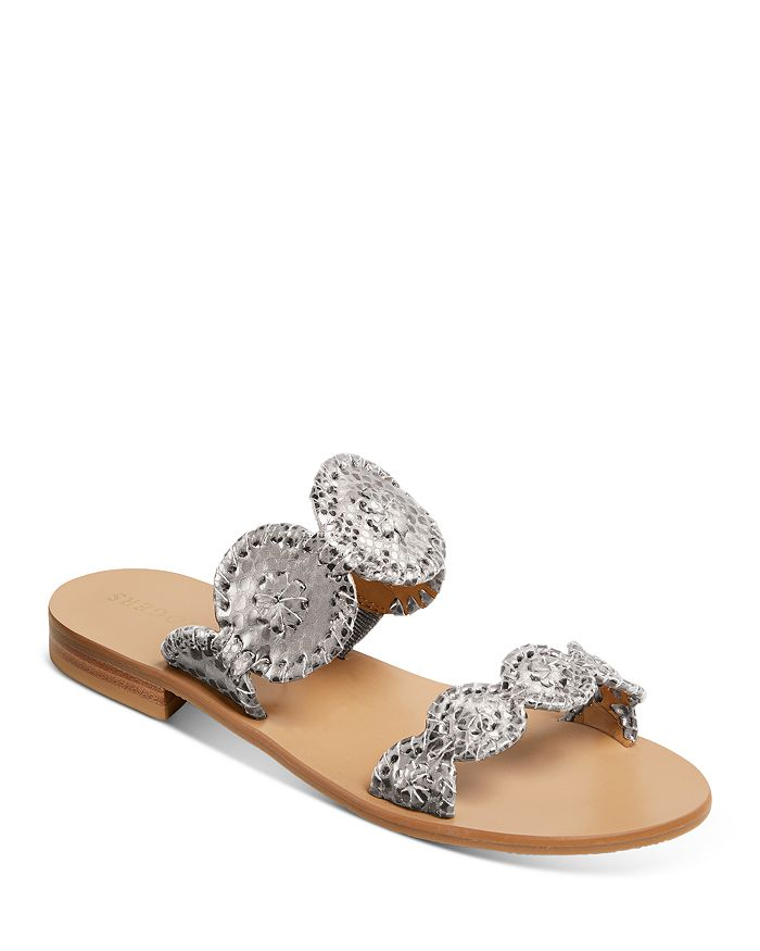 Jack Rogers - Women's Lauren Metallic Snake-Embossed Sandals