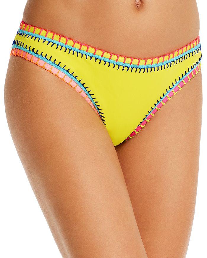 Platinum Inspired By Solange Ferrarini Neon Yellow Whipstitched Scoop Bikini Bottom - 100% Exclusive In Dandelion