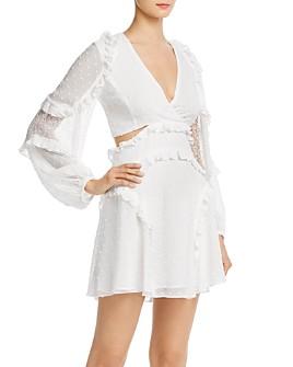 Bardot - Ziggy Ruffled Cutout Mini Dress