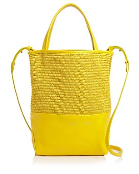 Alice.D - Leather & Raffia Tote