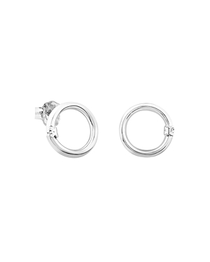 Tous Sterling Silver Small Hold Stud Earrings
