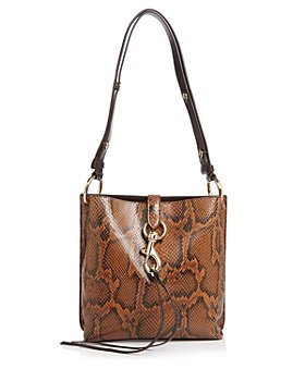 Rebecca Minkoff - Megan Small Snake-Print Feed Bag