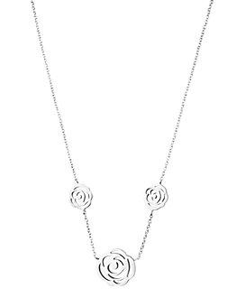"""TOUS - Sterling Silver Rosa de Abril Choker Necklace, 17.7"""""""