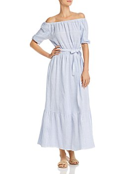 Lemlem - Semira Sky Off-the-Shoulder Maxi Dress