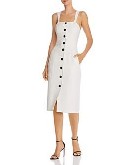 Donna Karan - Wedge-Strap Button-Front Dress