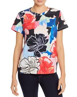 PAULE KA - Floral-Print Cotton Jersey Tee