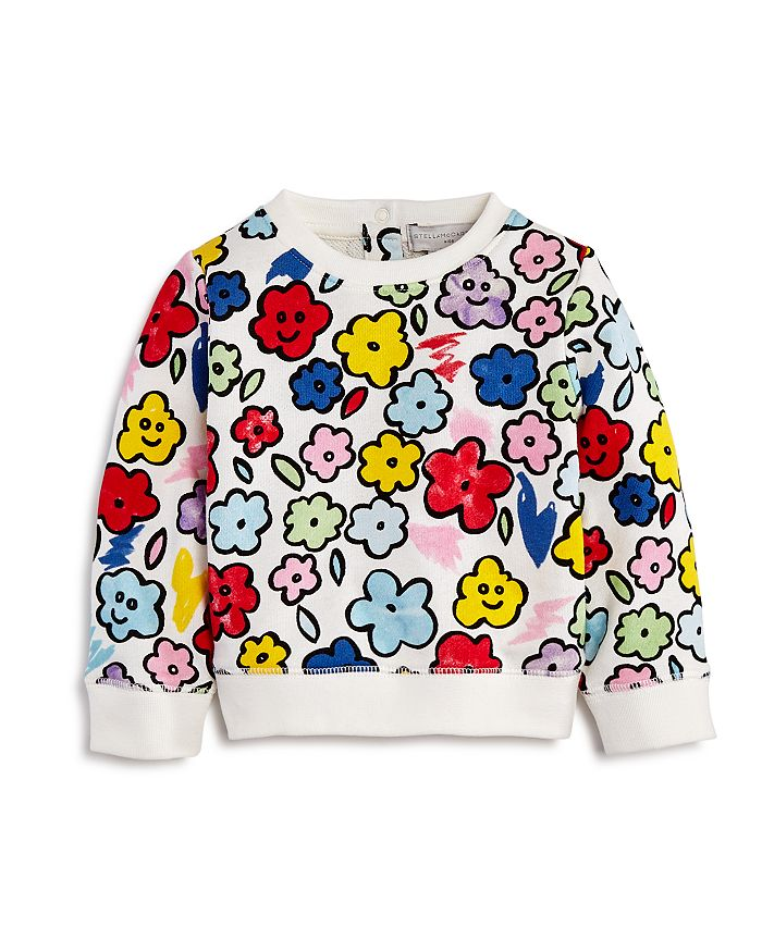 Stella McCartney - Girls' Smiling Flowers Sweatshirt - Baby