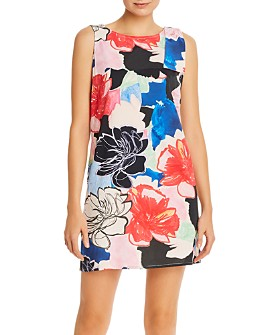 PAULE KA - Printed Tie-Detail Cotton Jersey Dress