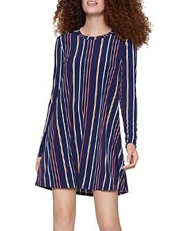 BCBGENERATION - Long-Sleeve Striped A-Line Dress
