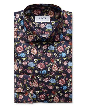 Eton - Floral Print Slim Fit Dress Shirt