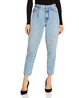 J Brand - Pleat Front Peg Jeans in Blissed Wash