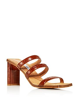 Miista - Women's Joanne Croc-Embossed Block-Heel Sandals