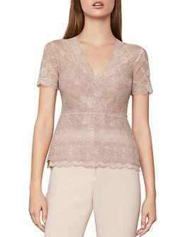 BCBGMAXAZRIA - Scalloped Lace Top
