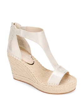 Kenneth Cole - Women's Olivia T-Strap Espadrille Sandals