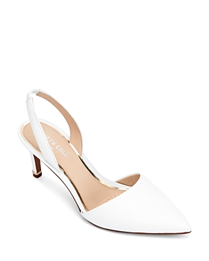 Kenneth Cole Women\'s Riley Leather Slingback Pumps
