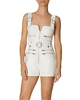 WeWoreWhat - Faux-Leather Moto Shortalls