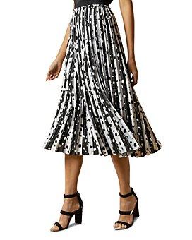 Ted Baker - Vyvian Polka Dot Pleated Skirt