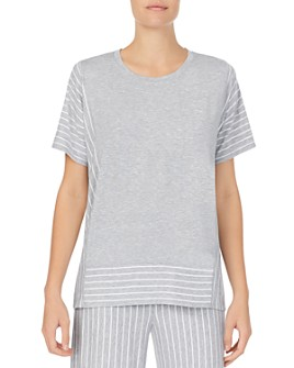 Donna Karan - Striped Short-Sleeve Tee