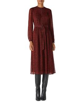 Whistles - Mini-Ikat Belted Midi Dress
