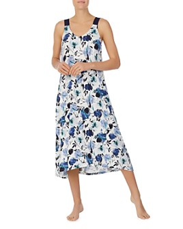 Donna Karan - Floral Sleeveless Nightgown