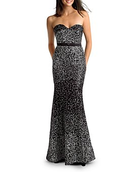 Basix - Confetti Sequin Strapless Sweetheart Gown