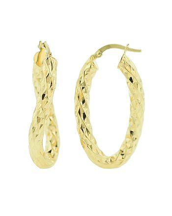 Bloomingdale's - Oval Hoop Earrings in 14K Yellow Gold - 100% Exclusive