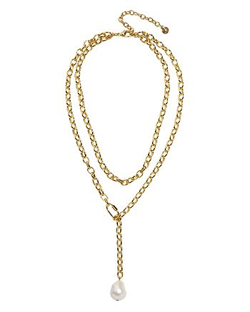 """BAUBLEBAR - Eden Layered Simulated Pearl Necklace, 14""""-18"""""""