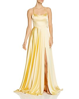 Faviana Couture - Charmeuse Plunge-Back Gown