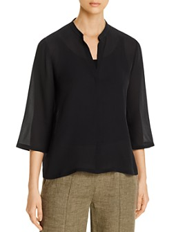 Eileen Fisher - Silk V-Neck Top