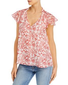 Parker - Tie-Neck Floral-Print Silk Top