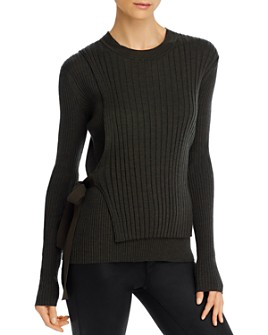 Helmut Lang - Side-Tie Crossover Wool Sweater