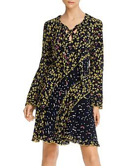 Derek Lam 10 Crosby - Catia Mixed-Print Dress