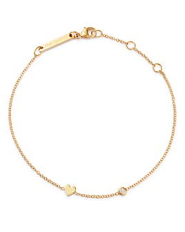 Zoë Chicco - 14K Gold & Diamond Itty Bitty Heart Bracelet