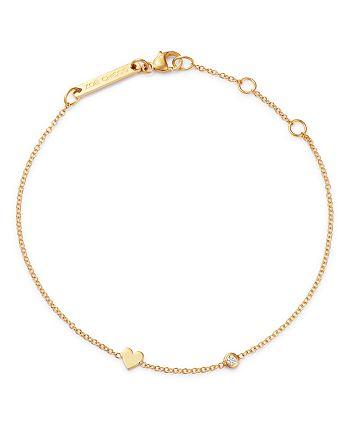 Zoë Chicco - 14K Gold & Diamond Itty Bitty Heart Bracelet