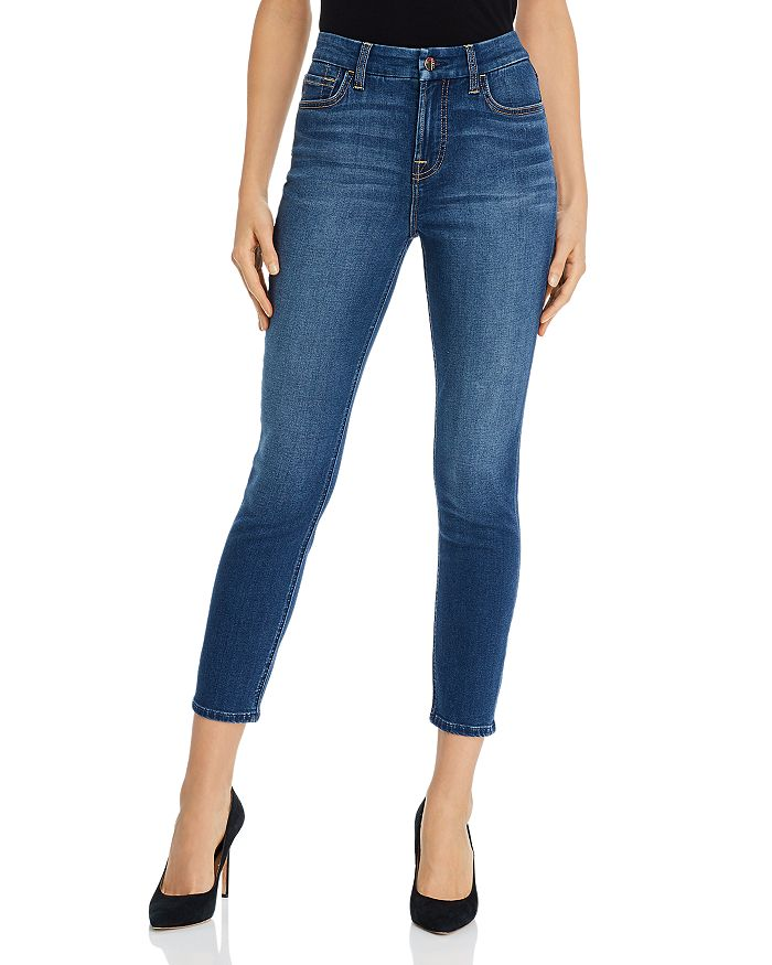 7 For All Mankind - Skinny Ankle Jeans in Classic Medium Blue