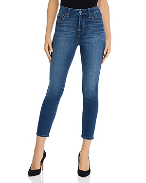 by 7 For All Mankind Skinny Ankle Jeans in Classic Medium Blue
