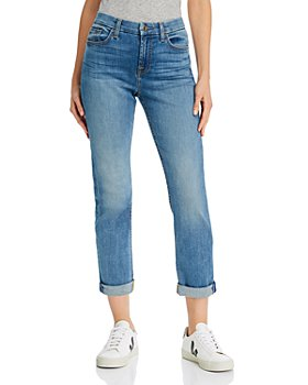 7 For All Mankind - Straight-Leg Ankle Jeans in Canyncoast