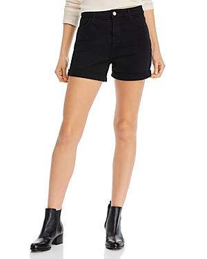 JEN7 7 For All Mankind Roll Hem Shorts in Black