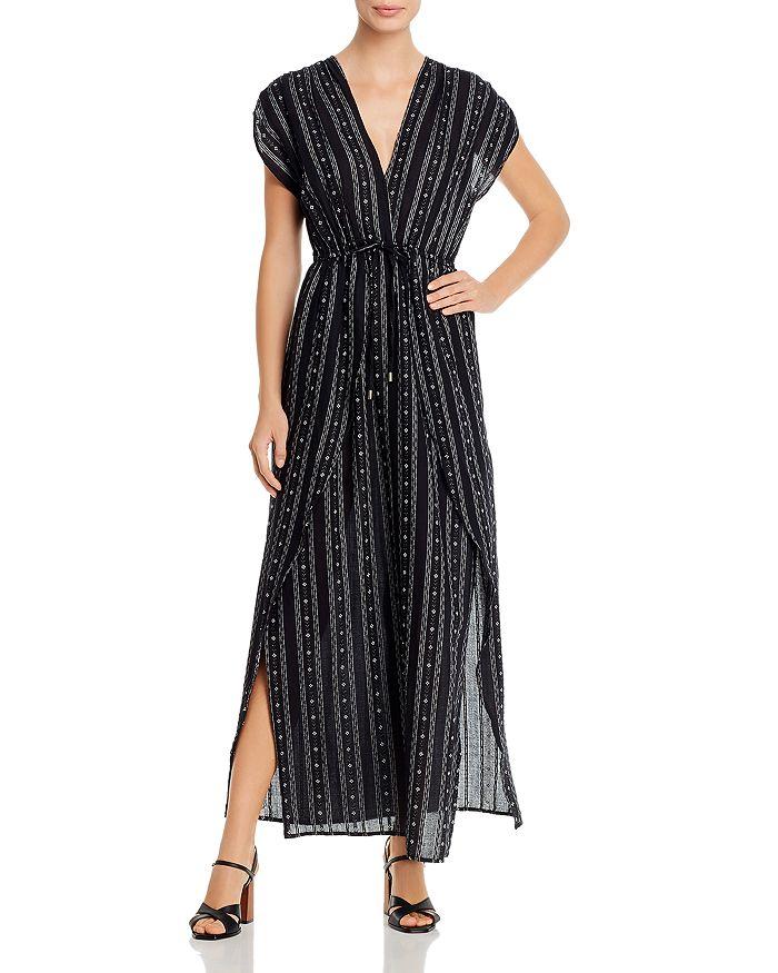 Elan - V-Neck Faux Wrap Maxi Dress