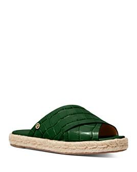 MICHAEL Michael Kors - Women's Linden Croc-Embossed Espadrille Sandals