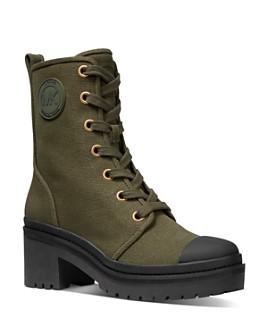 MICHAEL Michael Kors - Women's Corey Canvas Block Heel Boots