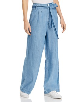 Rails - Paperbag-Waist Wide-Leg Pants