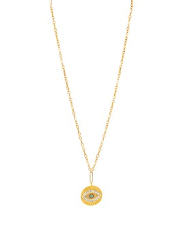 Sequin - Evil Eye Large Talisman Necklace, 32""