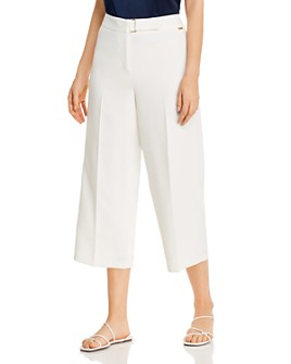 T Tahari - Wide-Leg Cropped Pants