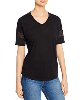 Marc New York - Mesh-Sleeve T-Shirt