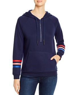 Marc New York - Striped-Sleeve Hoodie