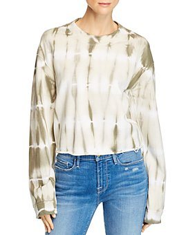 Joe's Jeans - Tie-Dyed Cropped Sweatshirt