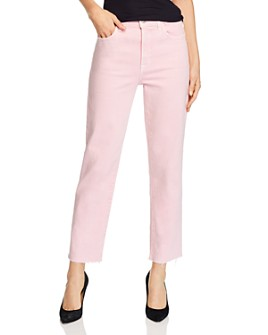 J Brand - Jules High-Rise Straight-Leg Jeans in Anemone - 100% Exclusive